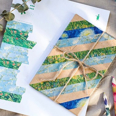 8 Piece Van Gogh Washi Tape Set | The Washi Tape Shop. Beautiful Washi and Decorative Tape For Bullet Journals, Gift Wrapping, Planner Decoration and DIY Projects