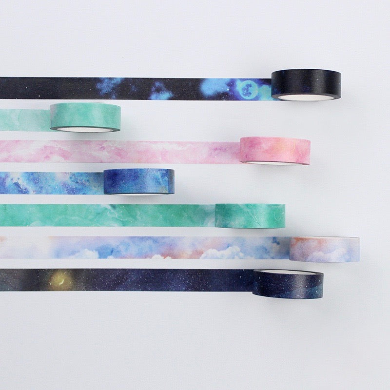 Sunflower Galaxy Washi Tape 15mmx7m | The Washi Tape Shop. Beautiful Washi and Decorative Tape For Bullet Journals, Gift Wrapping, Planner Decoration and DIY Projects
