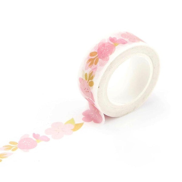 Cherry Pedals Washi Tape 15mmx7m | The Washi Tape Shop. Beautiful Washi and Decorative Tape For Bullet Journals, Gift Wrapping, Planner Decoration and DIY Projects