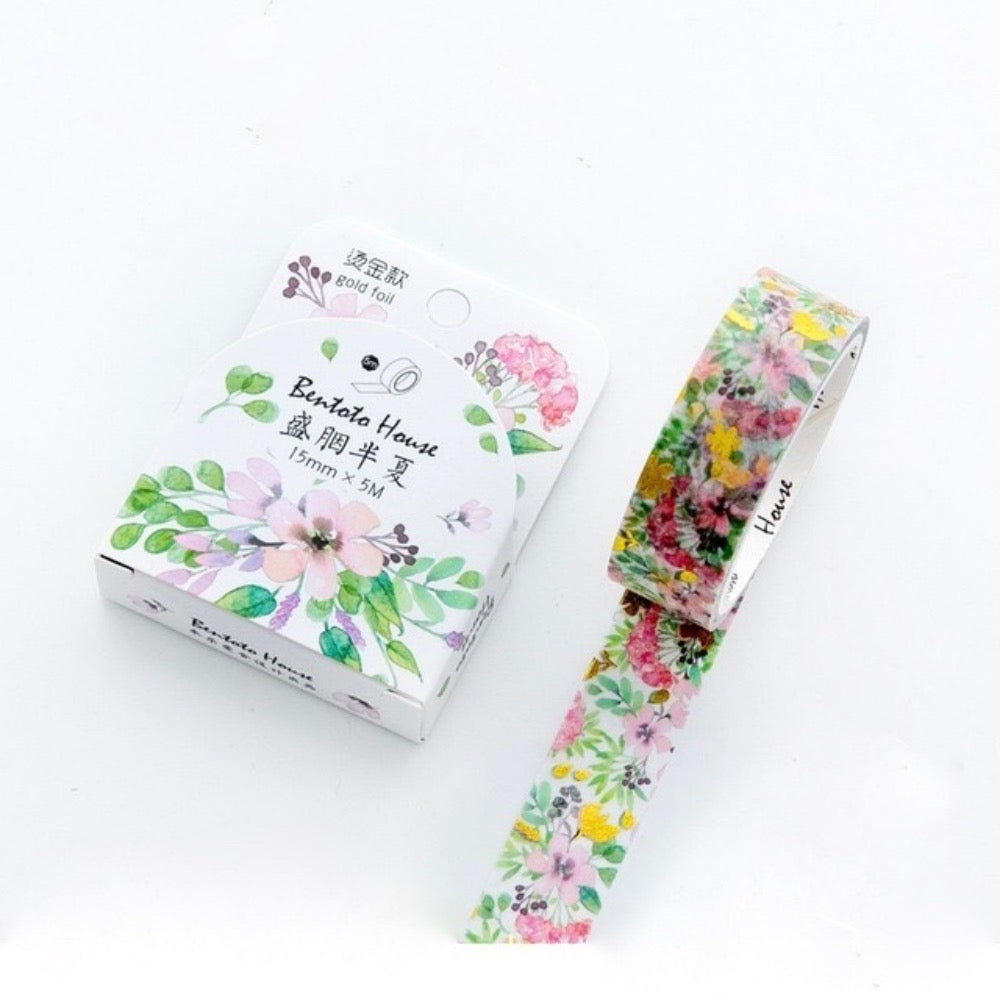 Floral Clouds Bentoto Washi Tape | The Washi Tape Shop. Beautiful Washi and Decorative Tape For Bullet Journals, Gift Wrapping, Planner Decoration and DIY Projects
