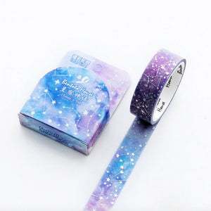 Constellation Silver Wash Tape | The Washi Tape Shop. Beautiful Washi and Decorative Tape For Bullet Journals, Gift Wrapping, Planner Decoration and DIY Projects