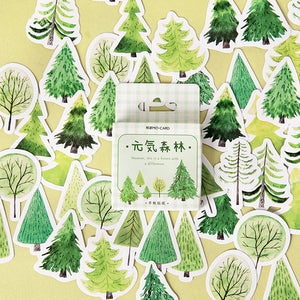 45 Piece Forest in Spring Stickers | The Washi Tape Shop. Beautiful Washi and Decorative Tape For Bullet Journals, Gift Wrapping, Planner Decoration and DIY Projects