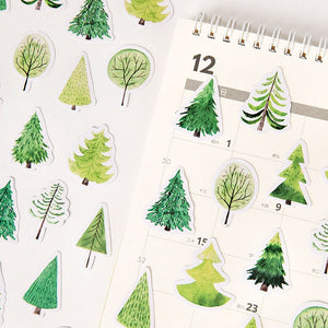 Forest in Spring Sticker 45 Piece Set | The Washi Tape Shop. Beautiful Washi and Decorative Tape For Bullet Journals, Gift Wrapping, Planner Decoration and DIY Projects