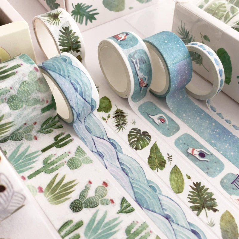 8 Pieces Set Forest Elements Washi Tape | The Washi Tape Shop. Beautiful Washi and Decorative Tape For Bullet Journals, Gift Wrapping, Planner Decoration and DIY Projects