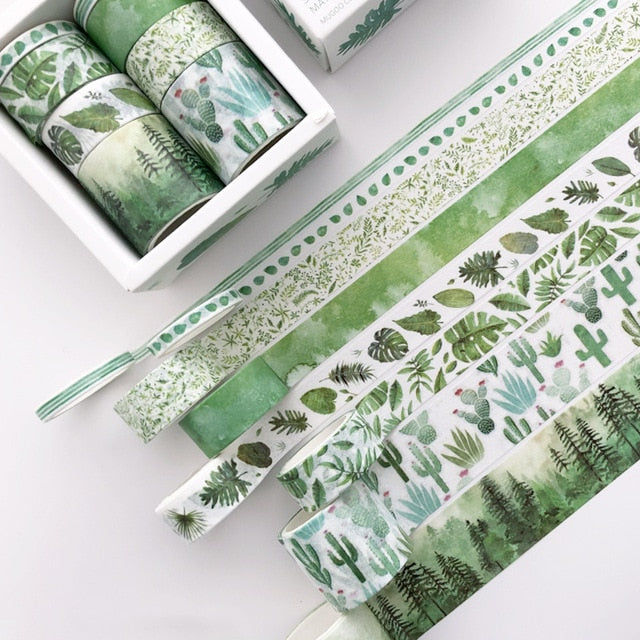 8 Piece Forest Elements Washi Tape Set | The Washi Tape Shop. Beautiful Washi and Decorative Tape For Bullet Journals, Gift Wrapping, Planner Decoration and DIY Projects