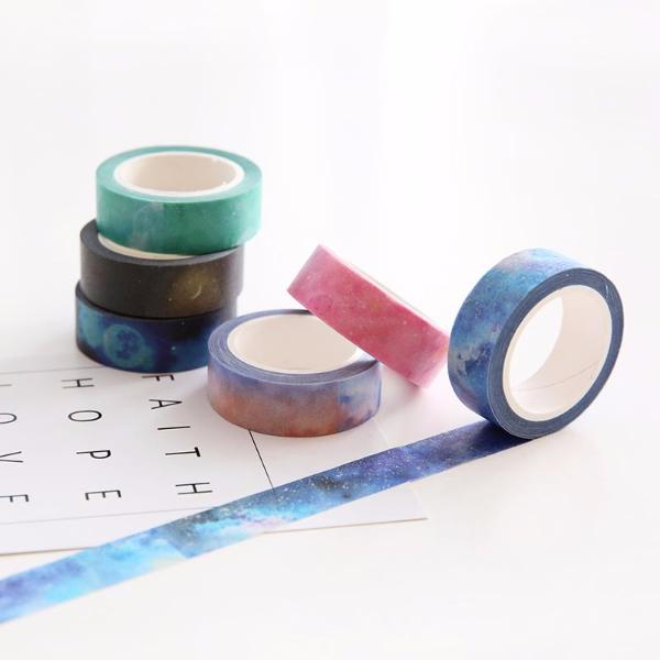 7 Piece Set Galaxy Washi Tape 15mmx7m | The Washi Tape Shop. Beautiful Washi and Decorative Tape For Bullet Journals, Gift Wrapping, Planner Decoration and DIY Projects