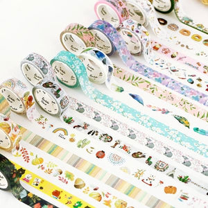 Yellow Floral Washi Tape 15mmx7m | The Washi Tape Shop. Beautiful Washi and Decorative Tape For Bullet Journals, Gift Wrapping, Planner Decoration and DIY Projects
