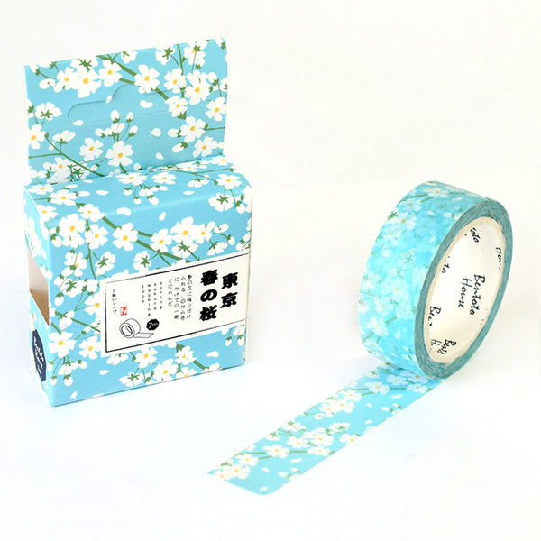 Tokyo in Spring Washi Tape 15mmx7m - The Washi Tape Shop. Beautiful Decorative Tape For Bullet Journals Gift Wrapping Planner Decoration DIY Projects
