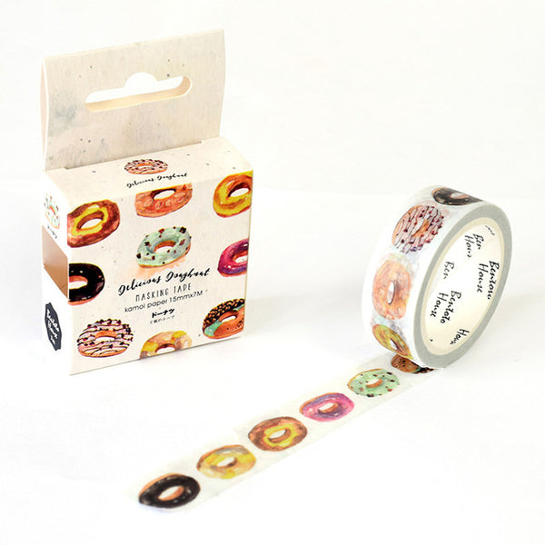 Donut Day Washi Tape 15mmx7m - The Washi Tape Shop. Beautiful Decorative Tape For Bullet Journals Gift Wrapping Planner Decoration DIY Projects