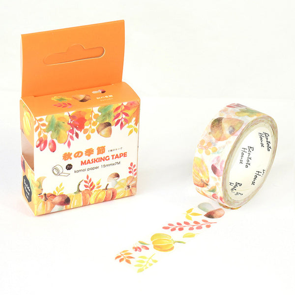 Leaves of Autumn Washi Tape 15mmx7m - The Washi Tape Shop. Beautiful Decorative Tape For Bullet Journals Gift Wrapping Planner Decoration DIY Projects
