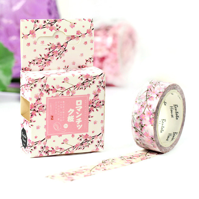 Sakura of Kyoto Washi Tape 15mmx7m - The Washi Tape Shop. Beautiful Decorative Tape For Bullet Journals Gift Wrapping Planner Decoration DIY Projects