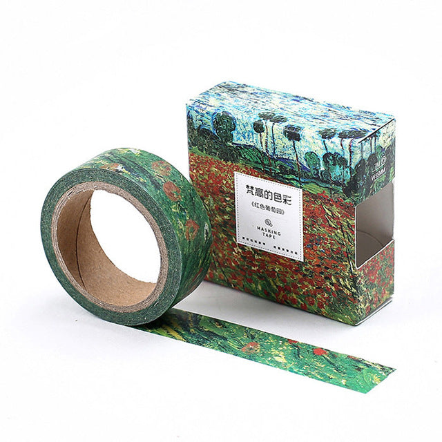 Red Vineyard Washi Tape 15mmx7m | The Washi Tape Shop. Beautiful Washi and Decorative Tape For Bullet Journals, Gift Wrapping, Planner Decoration and DIY Projects