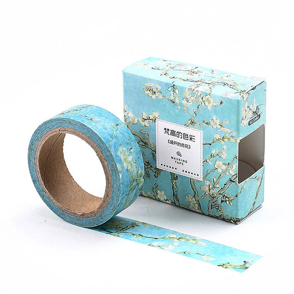 Apricot Flower Washi Tape 15mmx7m - The Washi Tape Shop. Beautiful Decorative Tape For Bullet Journals Gift Wrapping Planner Decoration DIY Projects