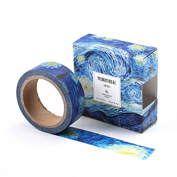 Starry Night Washi Tape 15mmx7m - The Washi Tape Shop. Beautiful Decorative Tape For Bullet Journals Gift Wrapping Planner Decoration DIY Projects