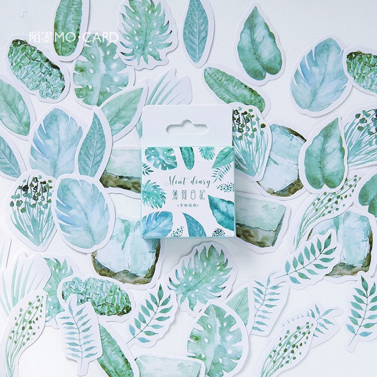 Tropical Greens Planner Sticker 45 Piece Set