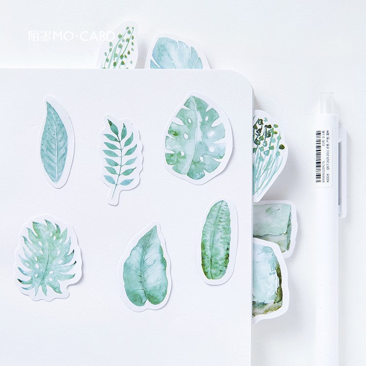 45 Piece Tropical Greens Planner Stickers | The Washi Tape Shop. Beautiful Washi and Decorative Tape For Bullet Journals, Gift Wrapping, Planner Decoration and DIY Projects