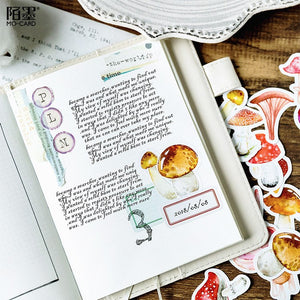 Mushroom Delight Planner Sticker 46 Piece Set | The Washi Tape Shop. Beautiful Washi and Decorative Tape For Bullet Journals, Gift Wrapping, Planner Decoration and DIY Projects