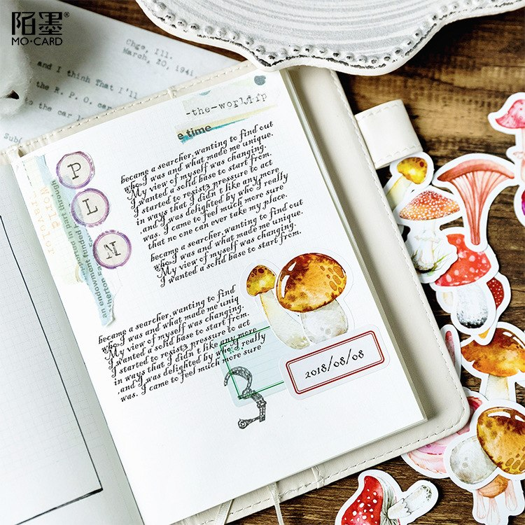 46 Piece Mushroom Delight Planner Stickers | The Washi Tape Shop. Beautiful Washi and Decorative Tape For Bullet Journals, Gift Wrapping, Planner Decoration and DIY Projects