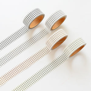 4 Piece Set Window Pane Grid Washi Tape Set | The Washi Tape Shop. Beautiful Washi and Decorative Tape For Bullet Journals, Gift Wrapping, Planner Decoration and DIY Projects