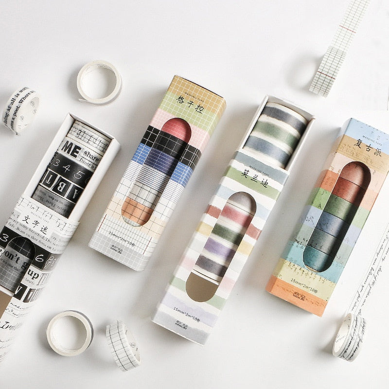 10 Piece HandBook Washi Tape Set | The Washi Tape Shop. Beautiful Washi and Decorative Tape For Bullet Journals, Gift Wrapping, Planner Decoration and DIY Projects