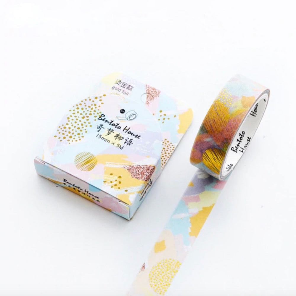 Geshi Gold Foil Wash Tape | The Washi Tape Shop. Beautiful Washi and Decorative Tape For Bullet Journals, Gift Wrapping, Planner Decoration and DIY Projects