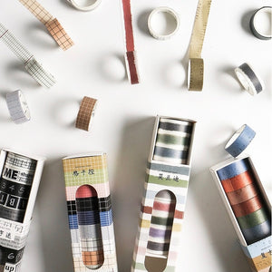 10 Piece Grid Washi Tape Set | The Washi Tape Shop. Beautiful Washi and Decorative Tape For Bullet Journals, Gift Wrapping, Planner Decoration and DIY Projects