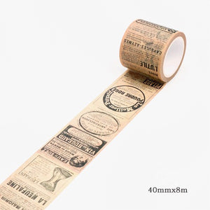 Article Memory Washi Tape 40mmx8m | The Washi Tape Shop. Beautiful Washi and Decorative Tape For Bullet Journals, Gift Wrapping, Planner Decoration and DIY Projects