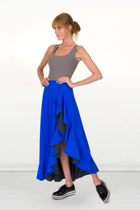 Stellaria Reversible Skirt Cape Dress
