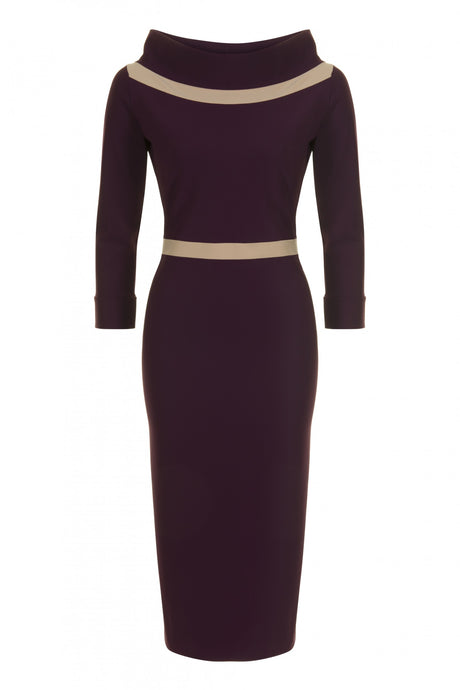 Ava Contrast Detail Dress