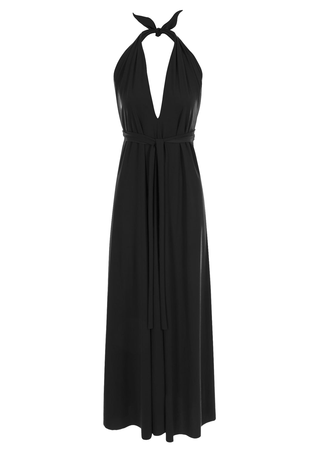 Lucy Halterneck Dress with Sashes