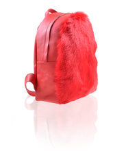 """Redrum"" shearling fur backpack"