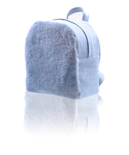 """Denim Dream"" shearling fur backpack"