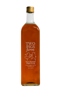 Two Pigs Farm Grade A, Amber Maple Syrup 1 Liter Bottle