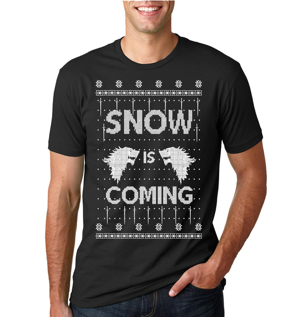 Dabbing Snowman  | Mens Ugly Christmas Tee Graphic T-Shirt