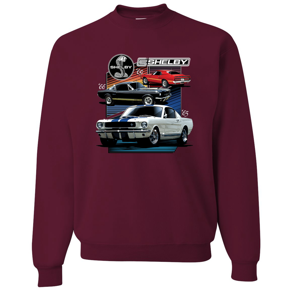 Shelby '69 Ford 65 Cobra Classic Vintage 1966 Muscle Cars Cars and Trucks Crewneck Graphic Sweatshirt