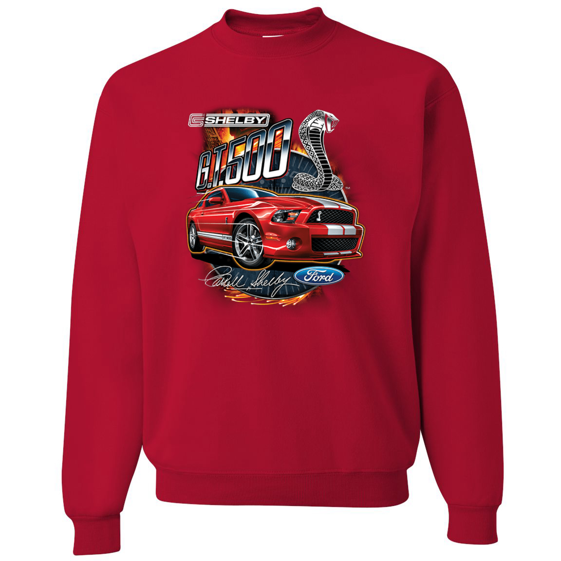 Shelby G.T. 500 Cobra Red Speedster Ford Motors Classic Cars and Trucks Crewneck Graphic Sweatshirt