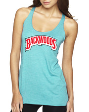 Backwoods Cigars Logo Womens Soft Premium Racerback Tank Top Blunt Humor Tank