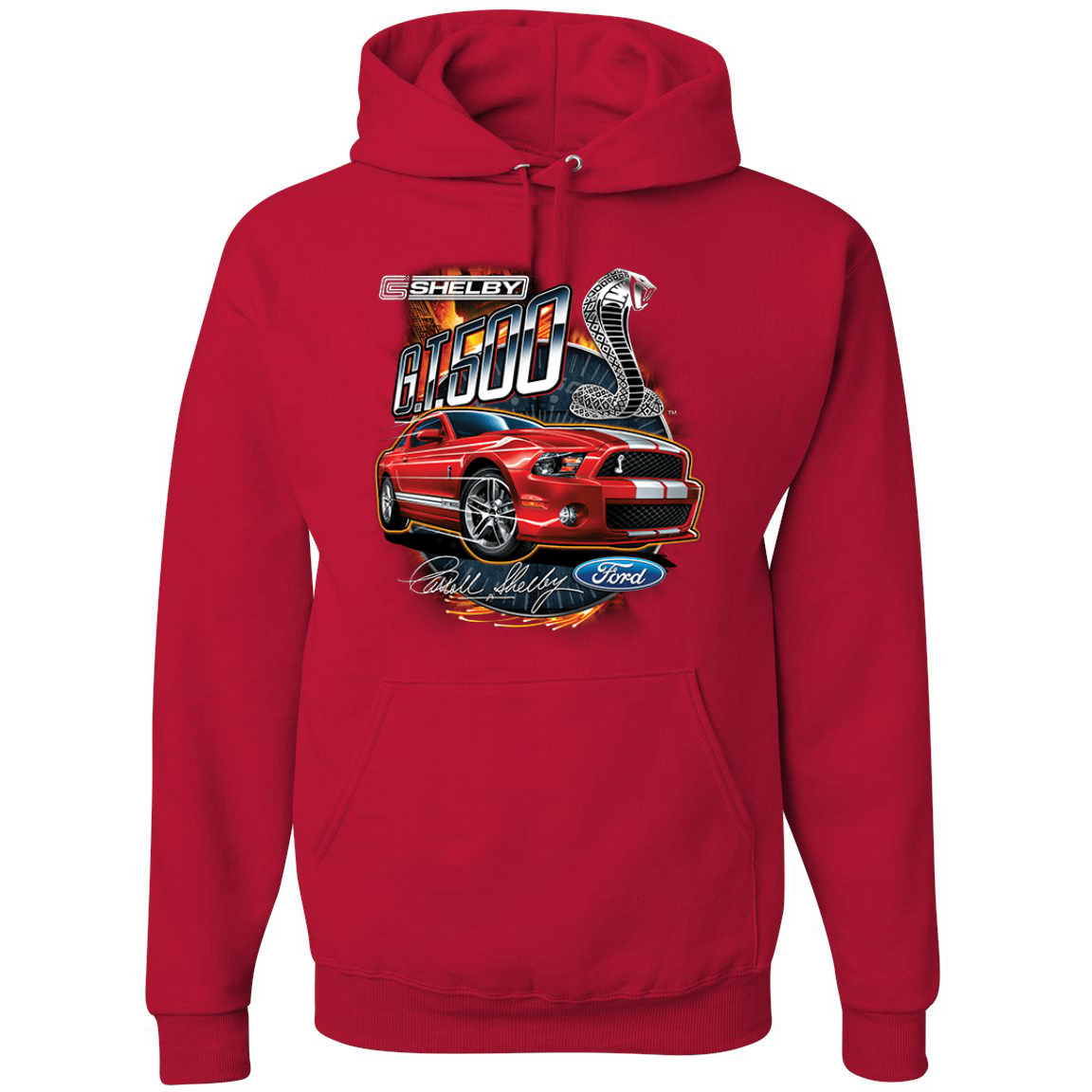 Shelby G.T. 500 Cobra Red Speedster Ford Motors Classic Cars and Trucks Graphic Hoodie Sweatshirt