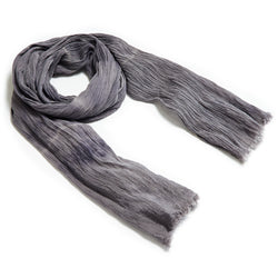 Organic Gypsy Scarf // Weathered Moonstone Shibori