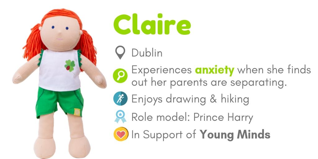 Doll Claire for mental health awareness