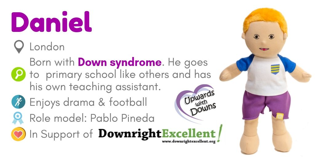 Doll Daniel for Down syndrome awareness