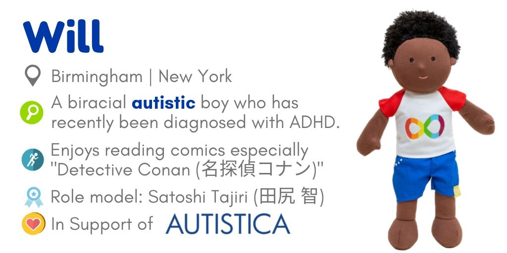 Doll Will for autism awareness