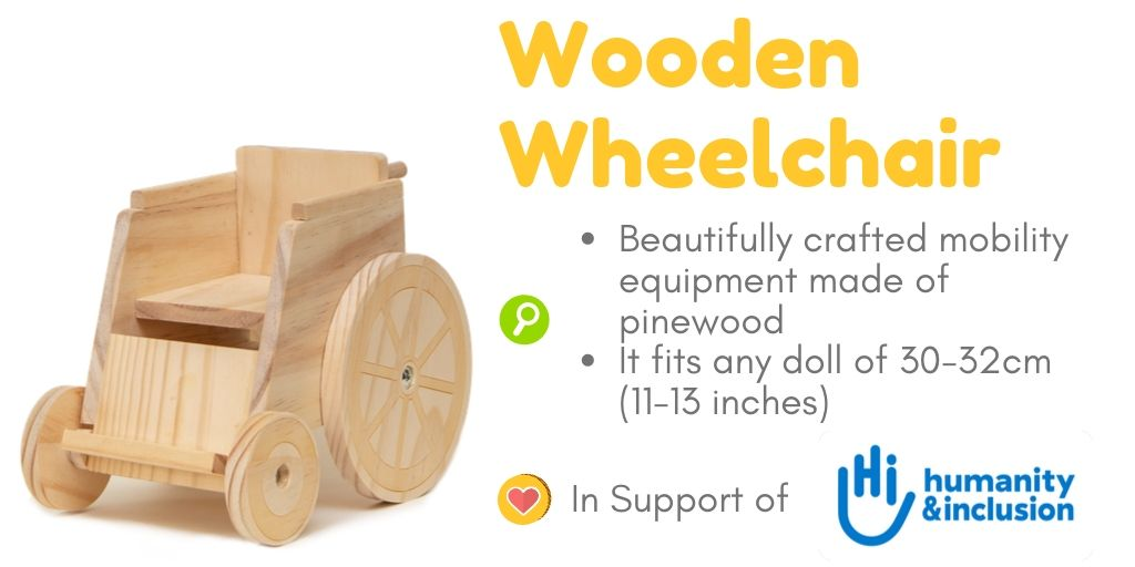 Toy Wooden Wheelchair