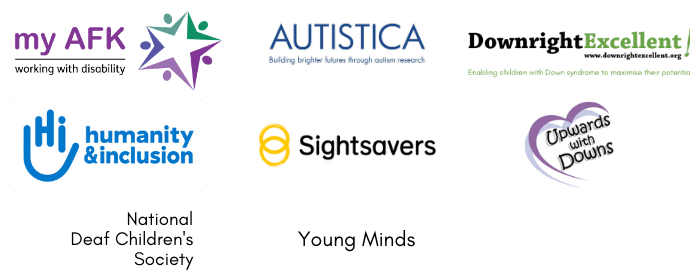 Logos of eight charity partners