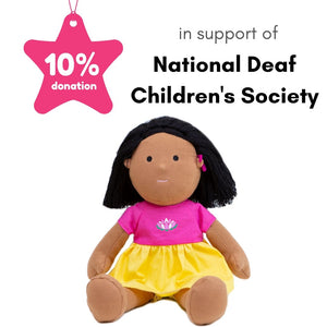 Doll Saroj in support of National Deaf Children's Society