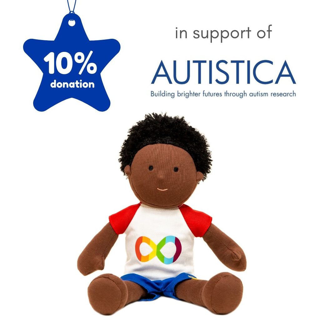 Doll Will in support of Autistica