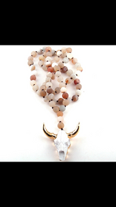 Steer Head necklace