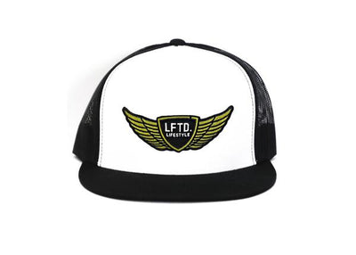 LFTD. Wings Trucker Snapback - WHITE W/ BLACK