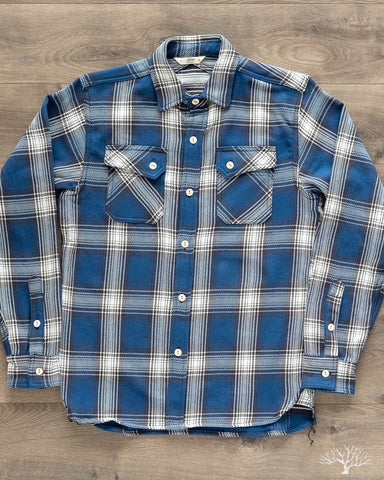 15 Year Indigo Crosscut Flannel