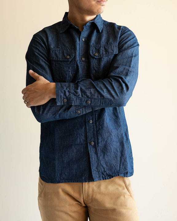 Crosscut Western - Linen/Cotton Denim